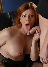 Hot TMILF Jasmine rides a fat cock