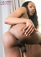 Gorgeous Ariel Smith is a beautiful Grooby girl with a sexy slim body, budding hormone tits, a great ass and a sexy hard cock! Enjoy this hot tgirl ja