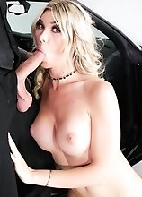 Bodacious blonde knockout Aubrey Kate is a TS superstar, amazingly femme and soft with tan-lined tits, artistic tats, a hard prick and bouncy balls. S