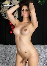 Miami tgirl Jenny Conder gets into the holiday spirit for Shemale Yum!