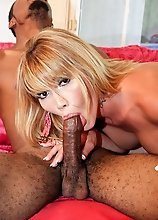 Gorgeous LA tranny interracial hardcore sex