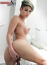 Domino Presley is one of the top transsexual pornstars in the world and with her big boobs, great ass and killer looks, she'd drop dead gorgeous.